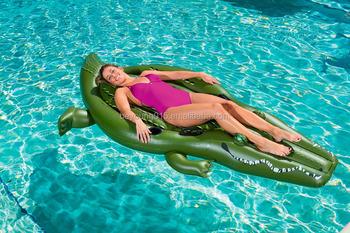 2017 Newest 8.5 FT CROC FUNDAY JUMBO FLOATIE +giant Bestway Inflatable  Crocodile Pool Float Ride