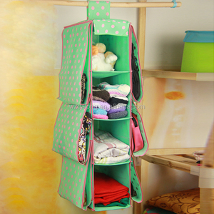 Home Over Door Hanging Bag Rack Hanger Clothing Underwear Storage Bag Organizer