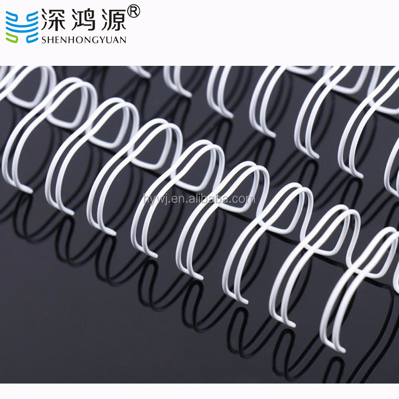 Various Size and White Color Double Wire Ring,Double Metal Spiral O Wire,Double Loop Wire Spiral Coil Binding