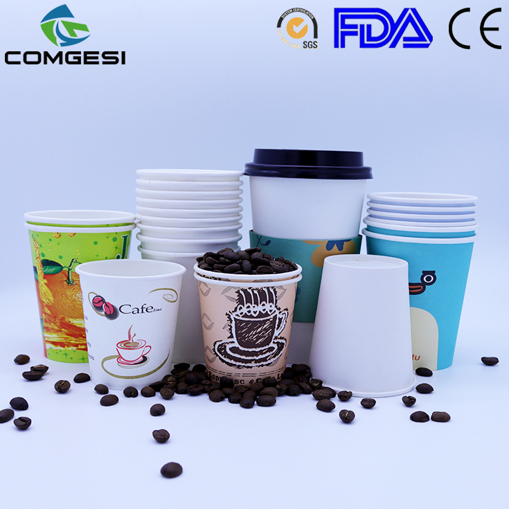 Papel lindo cups_PLA papel biodegradable cups_eco-friendly papel espresso copas