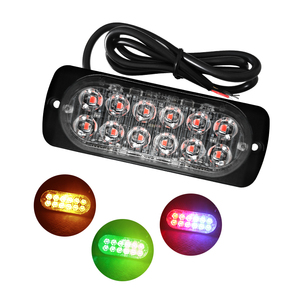 Flashing 3w surface mount Amber White Red Blue 36w led police emergency strobe light bar