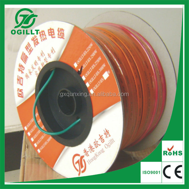 Underfloor Thin Flat Solid Core Electrical Wire Floor Heating ...