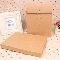 A5 Kraft Paper 337gsm File Box Document Box File Folder File Bag With Button 22cm*16cm*2.5cm