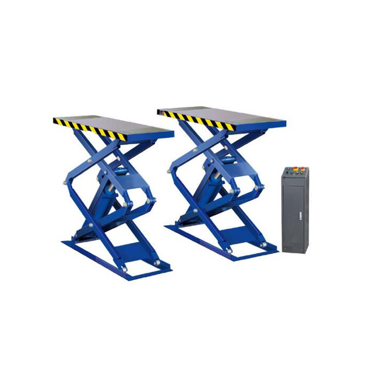 Ground mobile car lift for car washing
