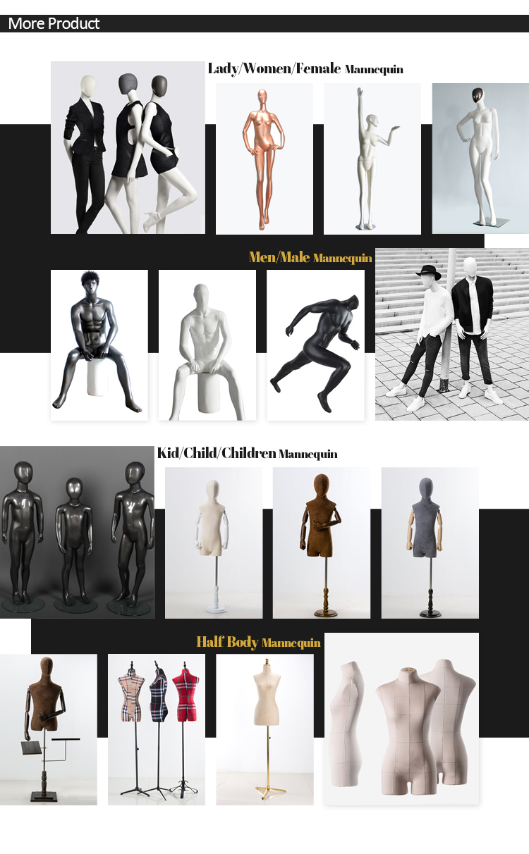 พลาสติกออกแบบใหม่ผ้าลินินหญิง store ครึ่งหุ่น