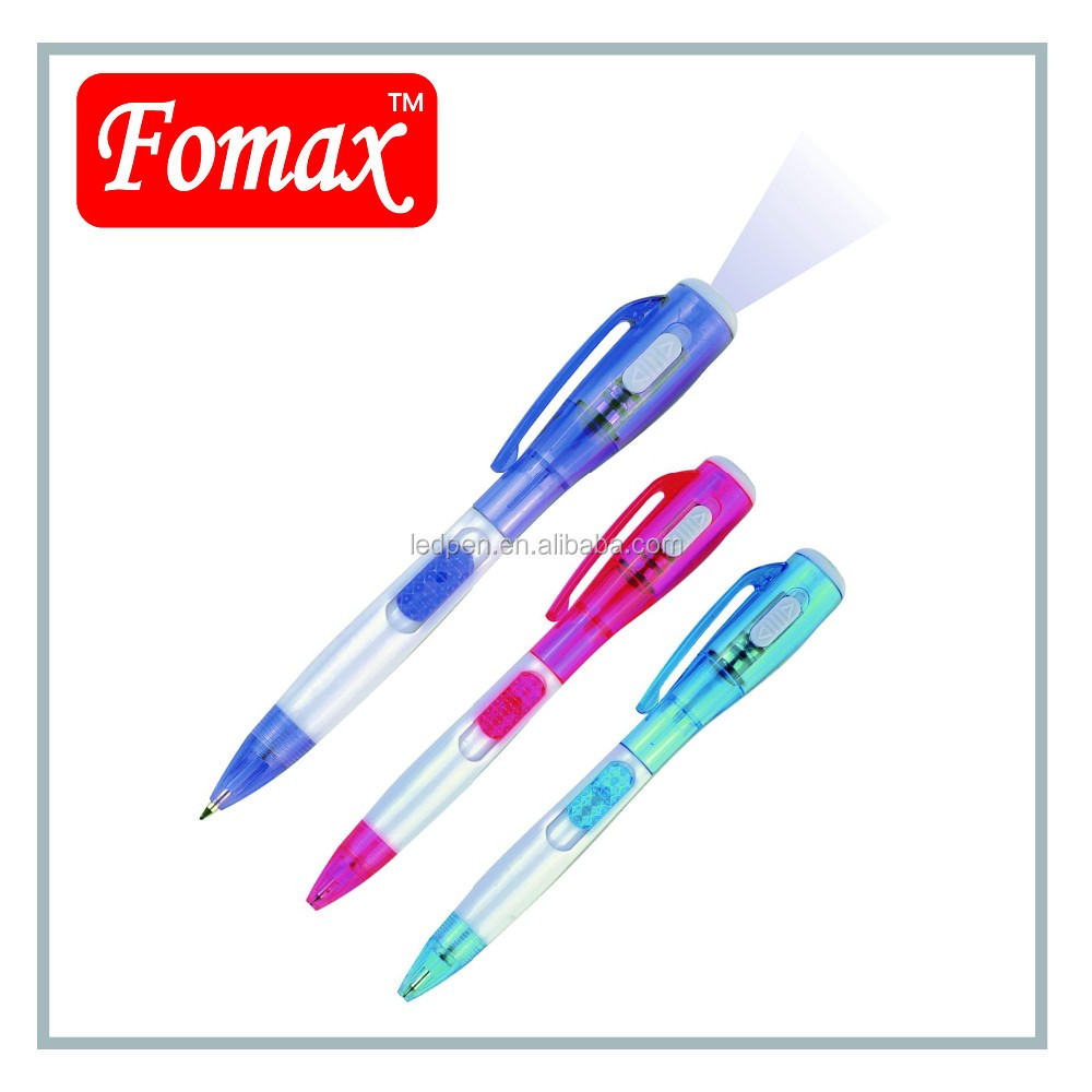 customized logo gifts and premiums torch light pen
