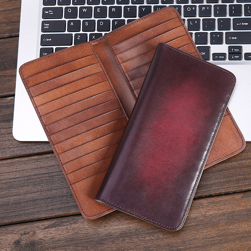 TERSE dropshipper wallets handmade wallet genuine leather high quality card holder wallets custom design