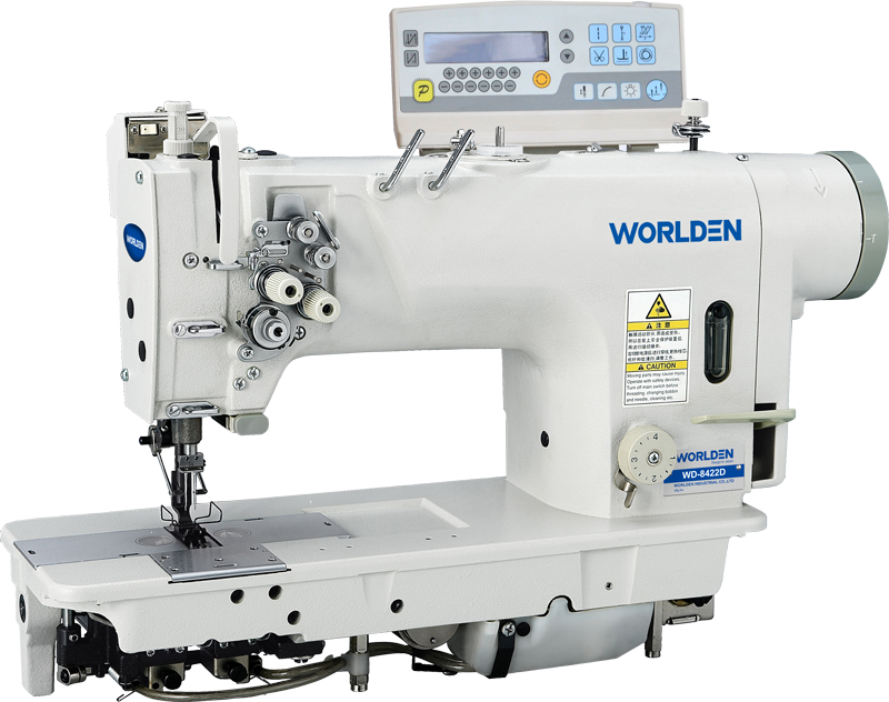WD-8422D Electrinic High-speed Double Needle Lockstitch Sewing Machine With Direct Drive