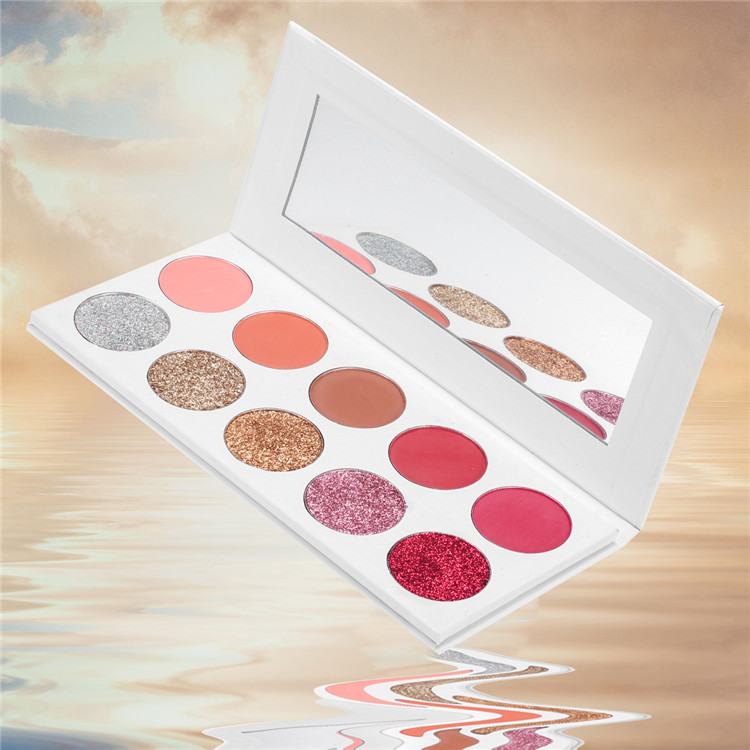 Eyeshadow palette private label glitter eyeshadow No logo 10 colors