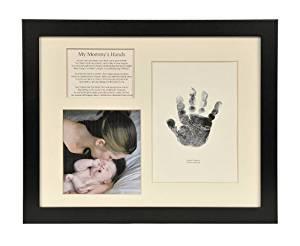 The Grandparent Gift Co. Baby Keepsakes Handprint Frame, Mommy's Hands