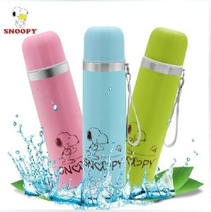snoopy flask,hot new products for 2015,KOREA vacuum flask,wholesale bottle