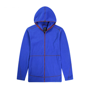 Wholesale clothing manufactures windbreaker solid polar fleece jacket full zip for men