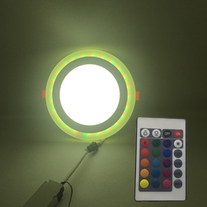3w 6w 12w 18w Factory price rgb surface mounted Round Square two color led surface panel light