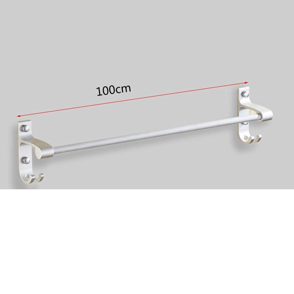 EQEQ Uus Free Towel Place in The Chain of The Aluminum Bath Rooms Bathroom Towel Holder Hanging Towel More Double Acting Towel Rack Bar (Size: D)