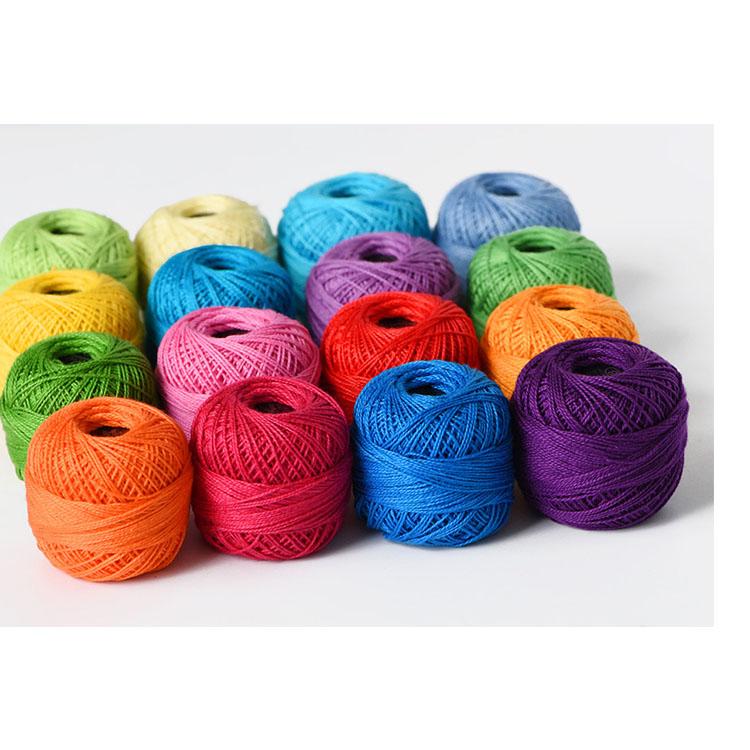 El crochet de crochet de color de algodón de color tiene 16 bolas  coloreadas de 10G a6ad9dde675