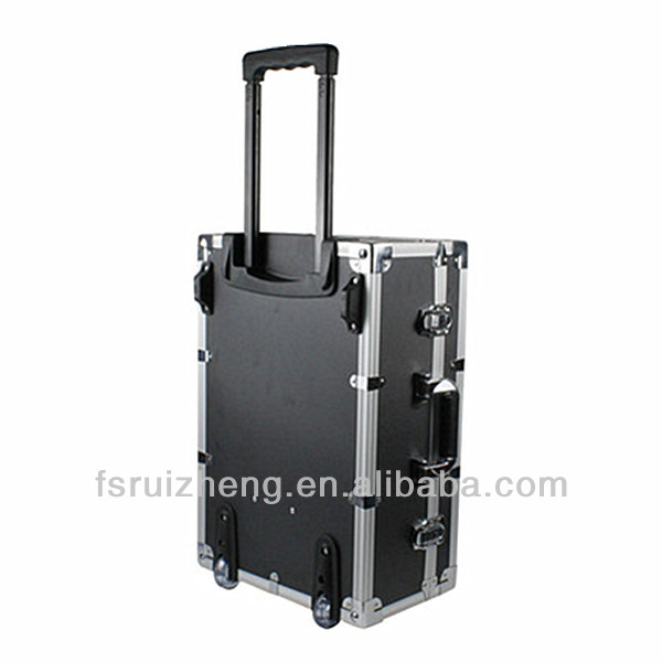 Durable fly storge aluminum trolley flight case