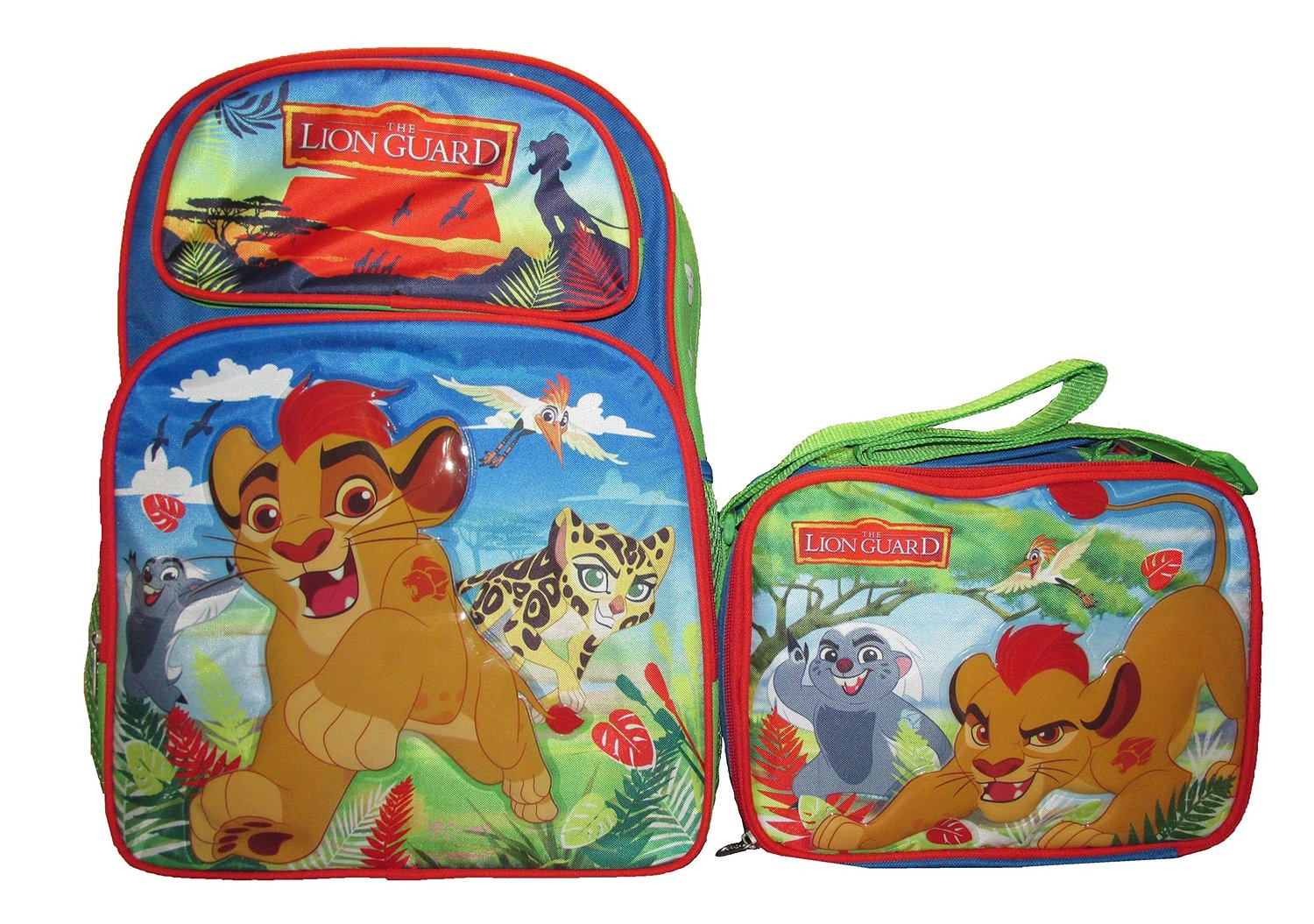 bbfcdd774c1 Get Quotations · Disney Lion King Guard 16 Inch Kids Large Backpack   Lunch  Bag Set - Combo