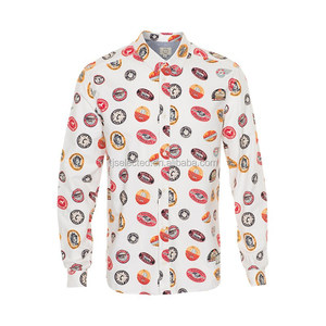 OEM Service for 100% Cotton printed oxford Men's Casual Shirts, Long Sleeves per-washed