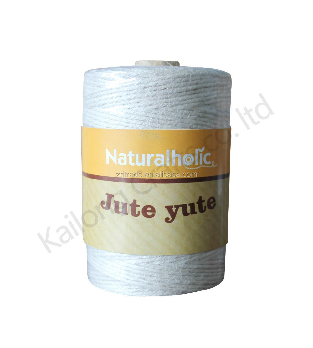 Colorful 40yards 2ply Jute cord yute corden Jute spool