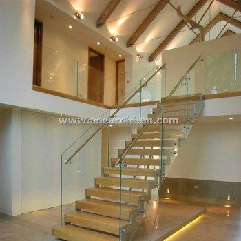 ACE Moderne Design Ouvrez Riser Escaliers Droits Pour Les Petits Espaces  Avec Bande De Roulement En