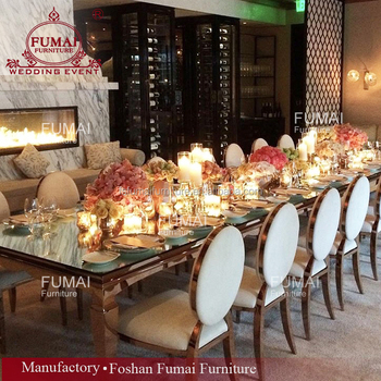 Rose Gold Rectangle King Dining Table Gl Top Center With Price Product On