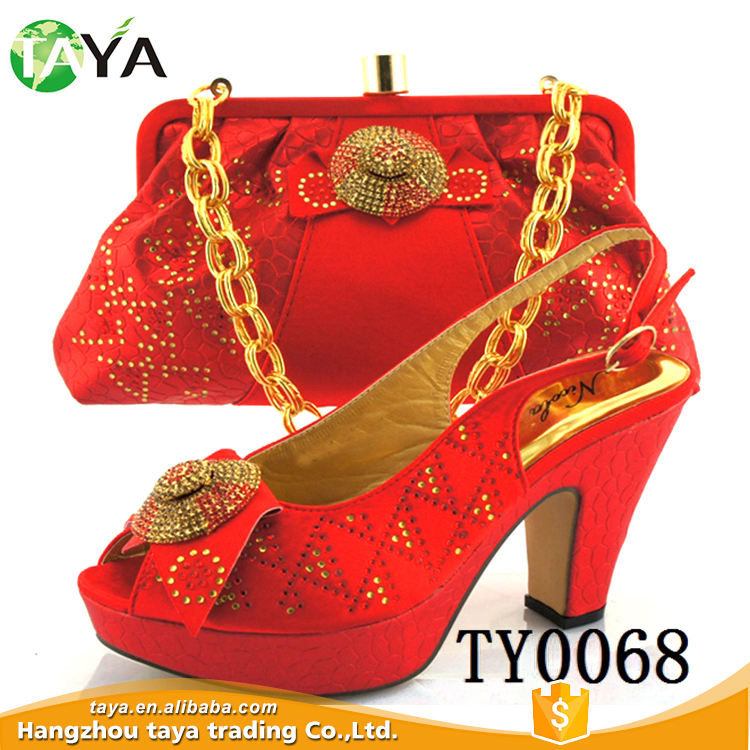 high heels and bag wholesale italian red shoes matching stuff