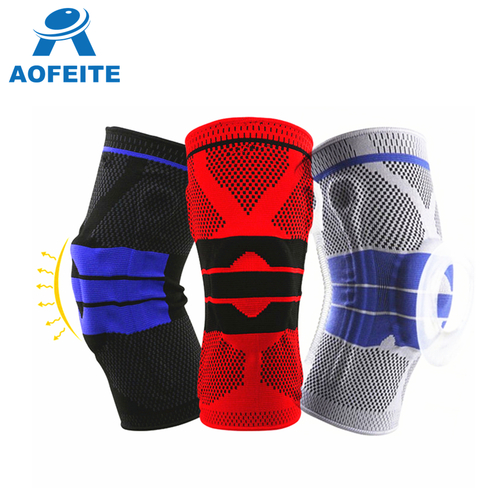 New High Quality Orthopedic Hinged Breathable Silicone Knee Pads