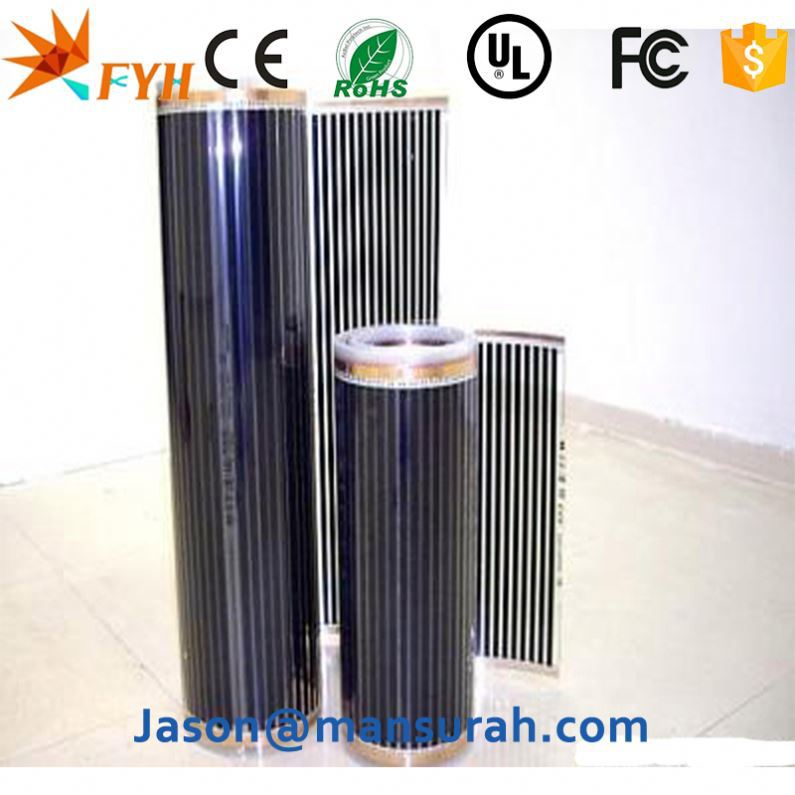 China Manufacture Excel Infrared Heating Film Heated Floors