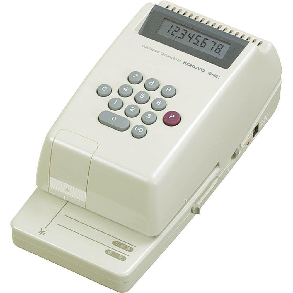 Kokuyo electronic check writer 8-digit cordless repeat printing IS-E21