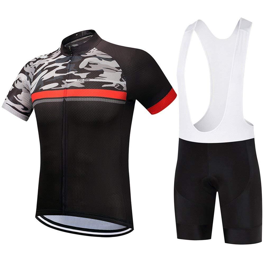 Get Quotations · Cycling Jersey Men Bib Short Sleeve Summer Kits Mountain  Bike Clothing Sets deb26f47b