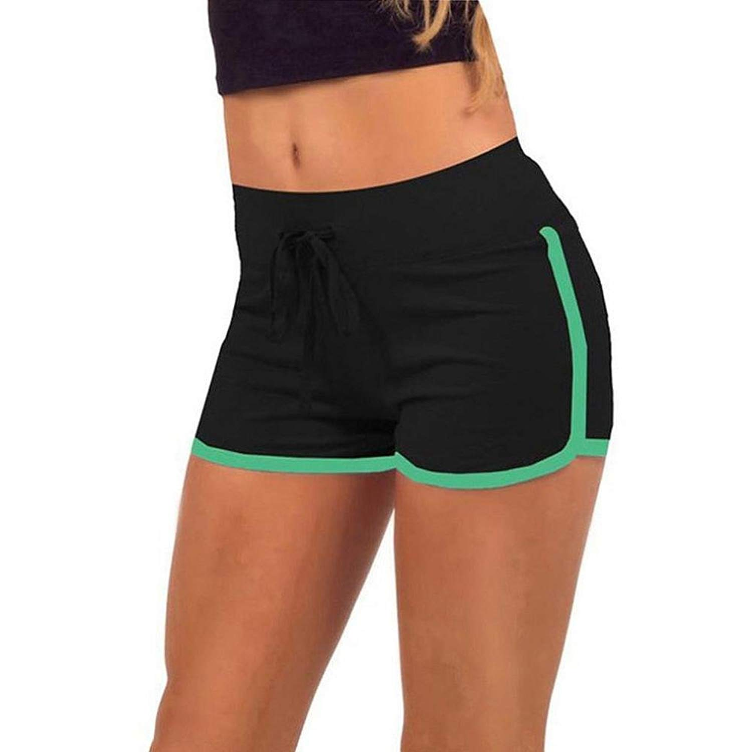 d15a3dd651 Get Quotations · Womens Shorts Pants,FTXJ Summer Sports Gym Workout  Waistband Skinny Yoga Shorts