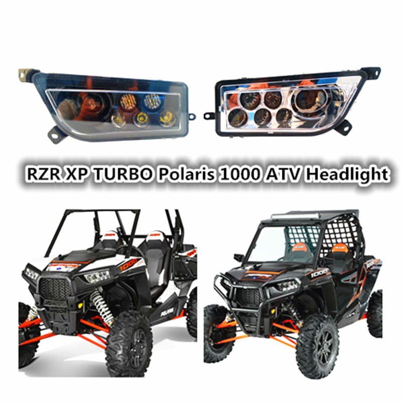 Sıcak satış 1000 RZR 4x4 RZR 900 RZR XP TURBO led farlar kiti UTV ATV led far polaris