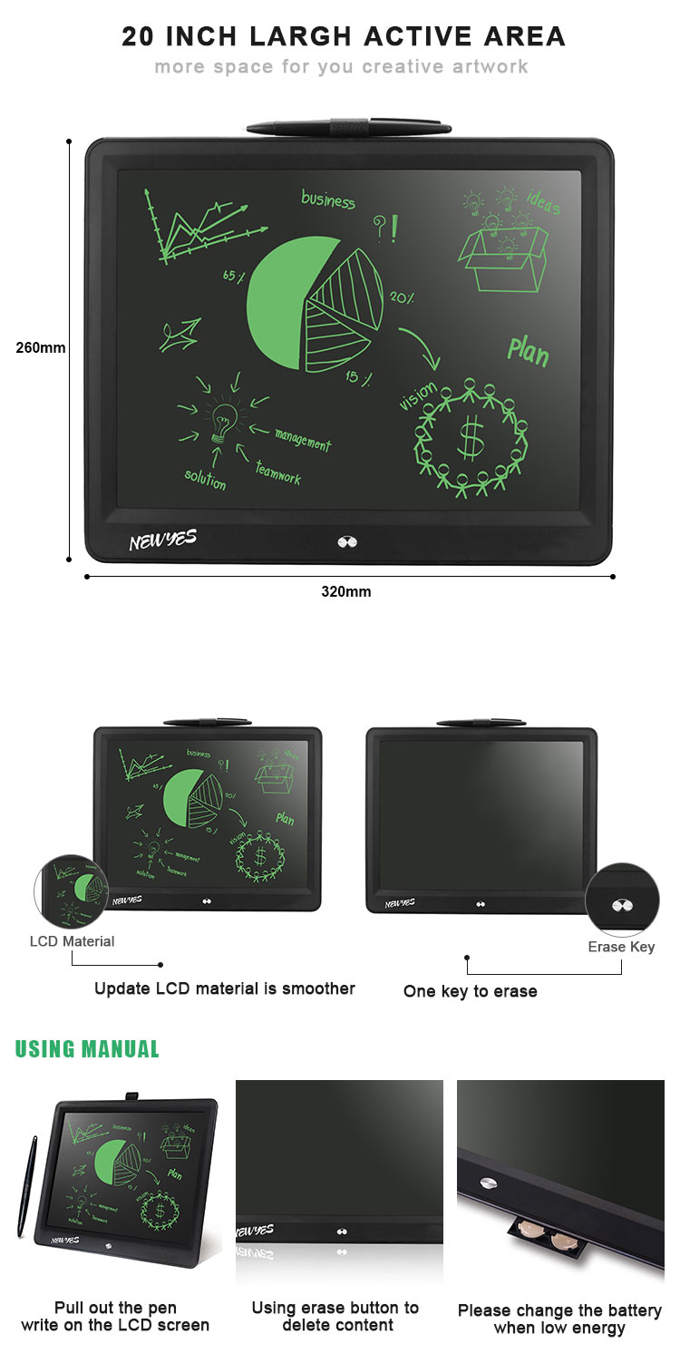 Design 15 Inch Magnetic Digital Memo Pad Paperless Kids Lcd Writing Tablet For Drawing
