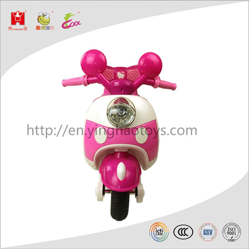 Colorful Micky Girls Toy Trike Battery Operated Ride On 3 Wheels Motorcycle