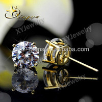 Fashion cz diamond 925 pure silver stud earrings jewelry XYE100572