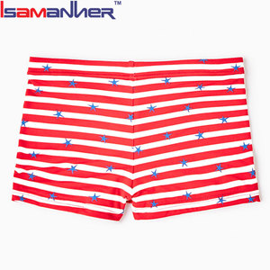Breathable summer holiday kids swimwear young boys swim brief