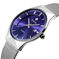 In Stock Mens Watch Luxury Quartz Wrist Watch Beautiful Blue Dial Watches For Men