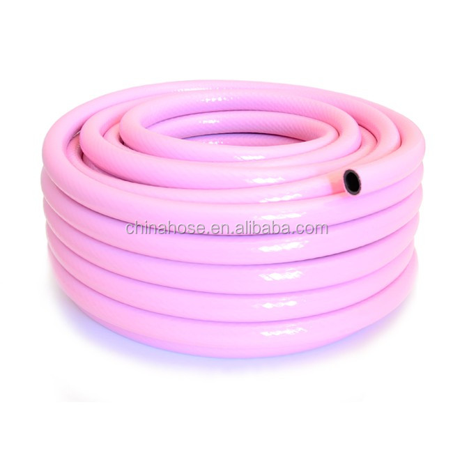 Cixi Jinguan Factory Offer Pink Garden Hose With Brass Fittings,Anti UV  Water Garden