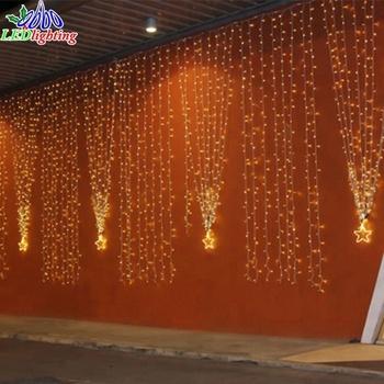 455210d86a0 Decoración de la boda Navidad conectable LED cascada luces de la cortina