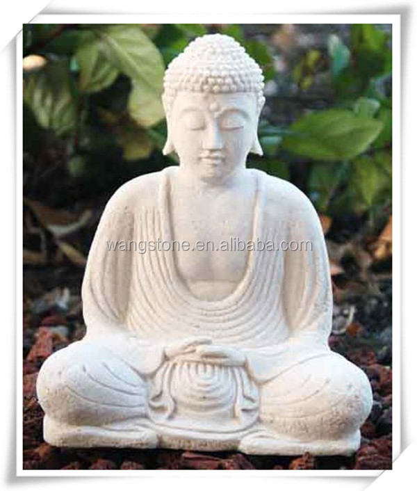 Large antique white stone carving buddha statue for sale