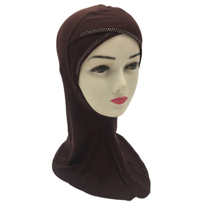 Popular Solid Color Cotton Women Head Covering Muslim Hijab Scarf