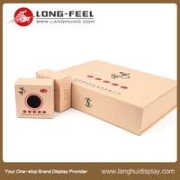 Long Feel Cash Coupon Printing Folding Packing Box With Ribbon Personalized Logo Matt Gift Box Packing