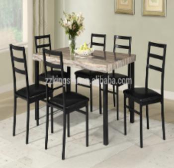 Kitchen Modern Furniture 7 Pieces Wooden Top Dining Set 6 Person Dining Table And Chairs Set Buy 6 Orang Meja Makan Dan Kursi Set Meja Makan Dan 6 Kursi Meja Makan Set 6