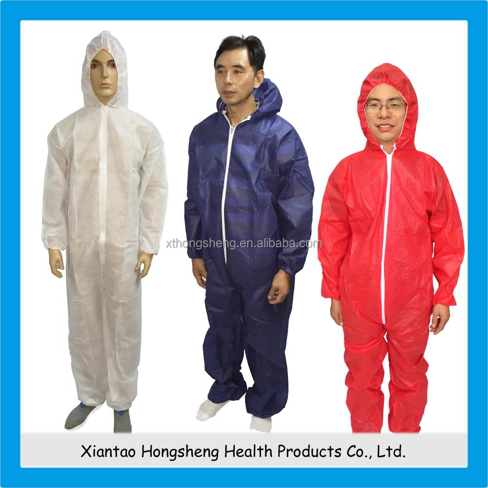 Disposable Non-woven Coverall with hood