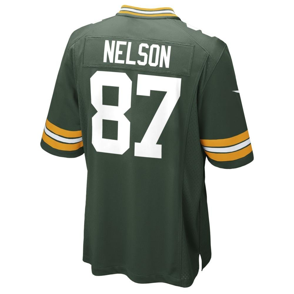 NIKE JORDY NELSON GREEN BAY PACKERS YOUTH GREEN TEAM COLOR GAME JERSEY