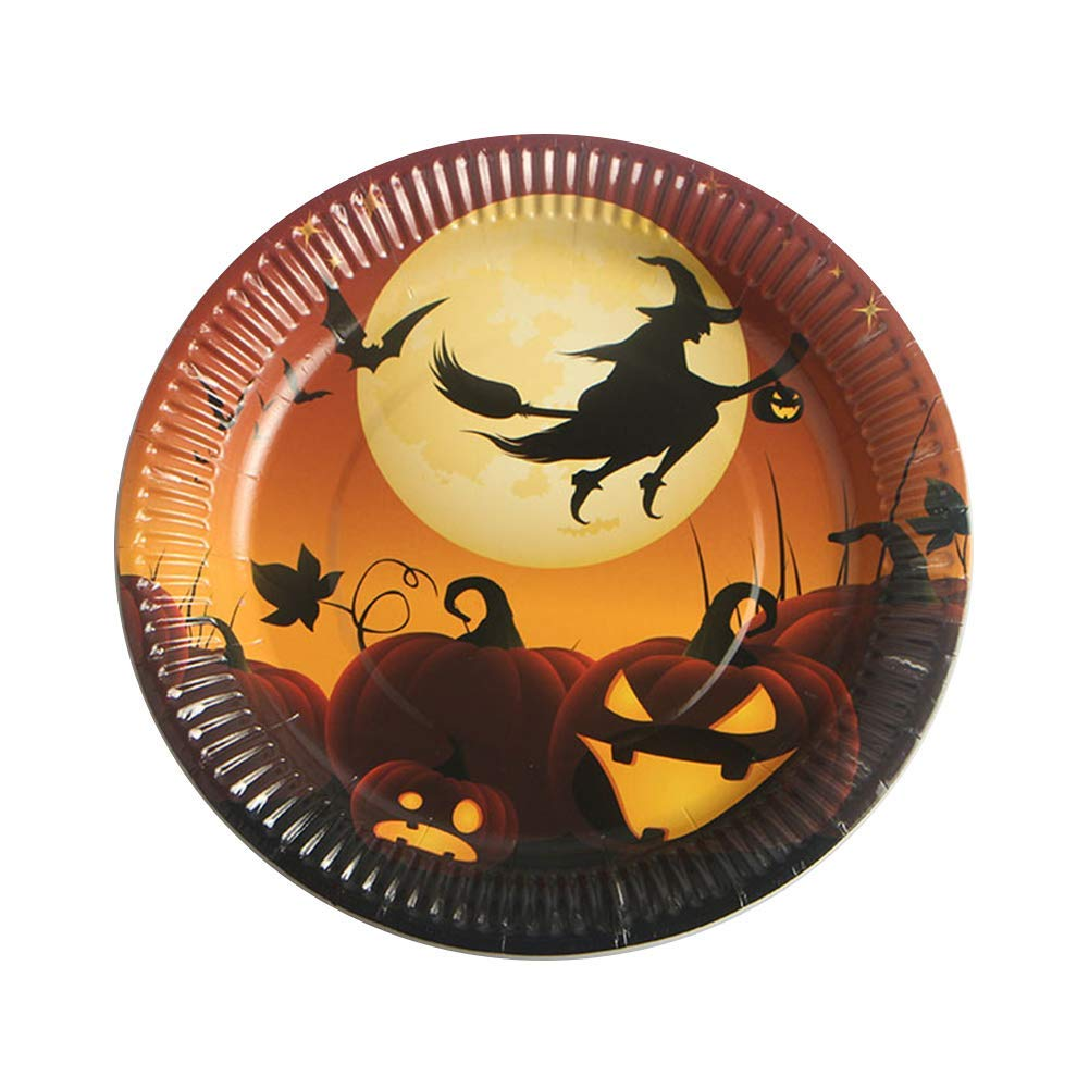 bc6003a0e4cfd Get Quotations · 10 Pcs Halloween Party Paper Plates