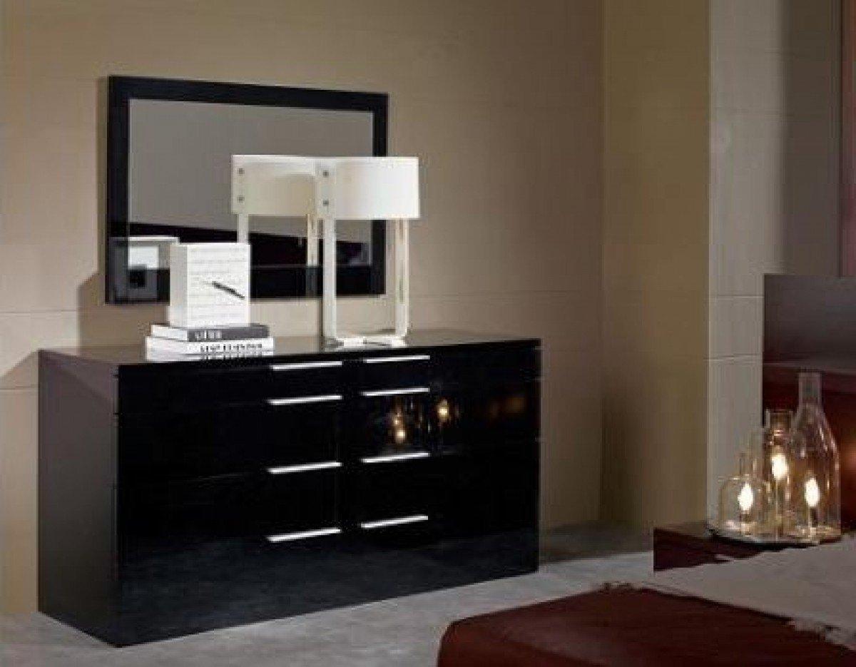VIG Furniture Modrest Aron Night Collection High Gloss Finished Modern Dresser, Black