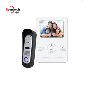 "Hot offer mini 4.3"" Acrylic touch key doorbell visual intercom system"