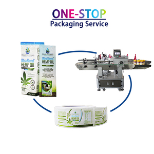 One-stop packaging service custom printing clear plastic mineral water bottle adhesive label