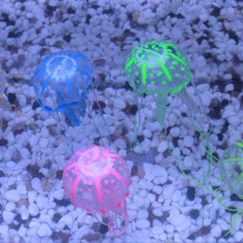 Renjia Jellyfish Aquarium Decoration Jellyfish Fish Tank Decorations Silicone Glow Jellyfish Aquarium Buy Silicone Glow Jellyfish Aquariumjellyfish